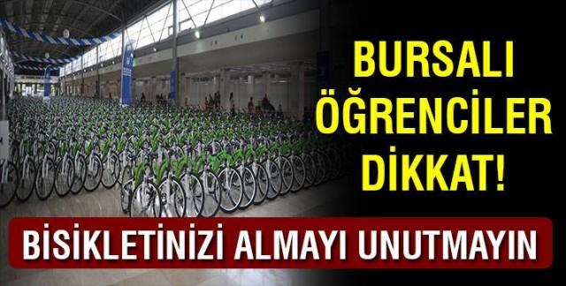 Bursalı öğrenciler dikkat! Bisikletinizi almayı unutmayın