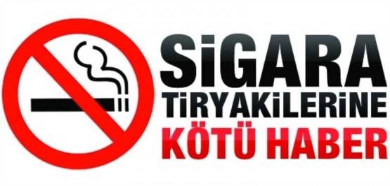 Sigara tiryakisine kötü haber!