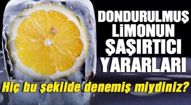 Dondurulmuş limonun inanılmaz faydaları!Hiç bu şekilde denemişmiydiniz ?