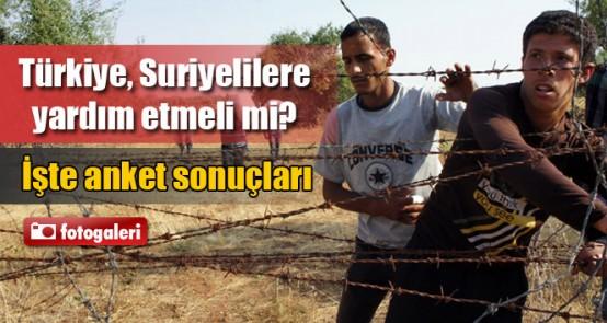 'Türkiye, Suriyelilere yardım etmeli mi' araştırmasından çarpıcı sonuçlar