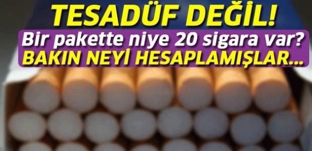 Bir Pakette 20 Sigara Olmasının Sebebi Buymuş.. !