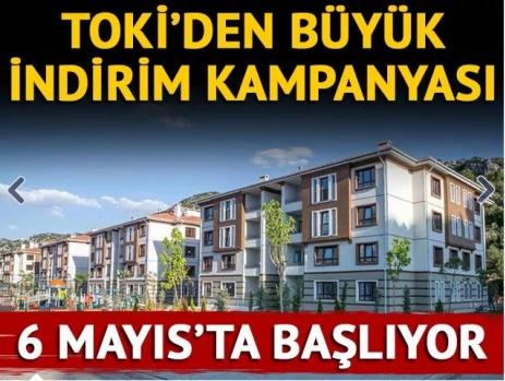 TOKİ'den büyük indirim kampanyası