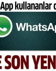 WhatsApp'a müthiş bir özellik daha