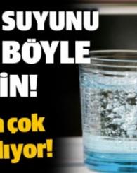Maden suyunu bardaktan içmeyin!