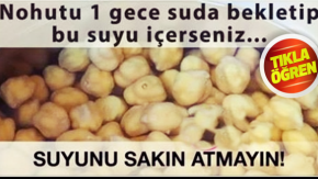 NOHUTU 1 GECE SUDA BEKLETİP SUYU İÇERSENİZ BAKIN NELER OLUYOR....