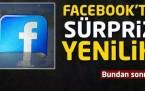 Facebook'ta sürpriz yenilik