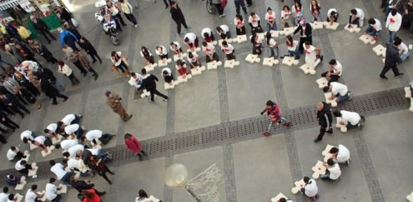 200 öğrenci Aynı Anda Kalp Masajı Yaptı