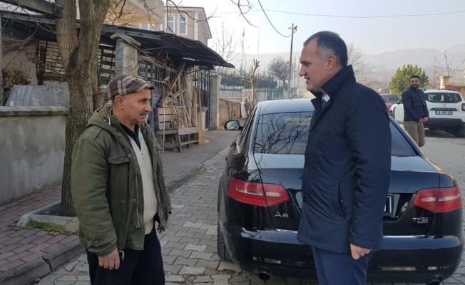 Taban'dan mahalleyi temizleyen gönüllü vatandaşa ziyaret