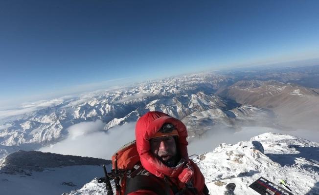 Bursalı dağcı, -45 derecede Avrupa'nın zirvesine tırmandı