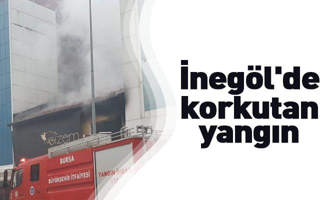 İnegöl'de korkutan yangın