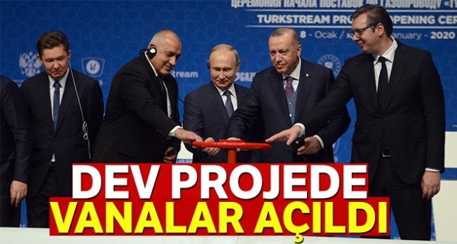 TürkAkım doğalgaz boru hattı açıldı