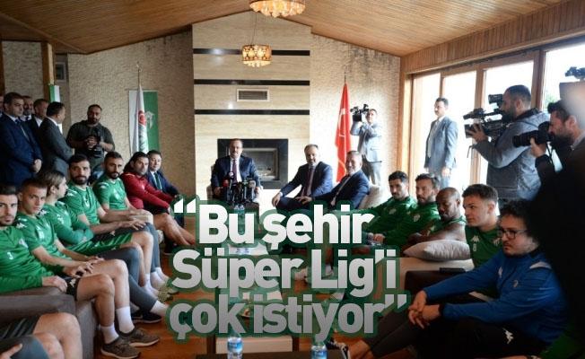 """Başkan Aktaş: """"Bu şehir Süper Lig'i çok istiyor"""""""