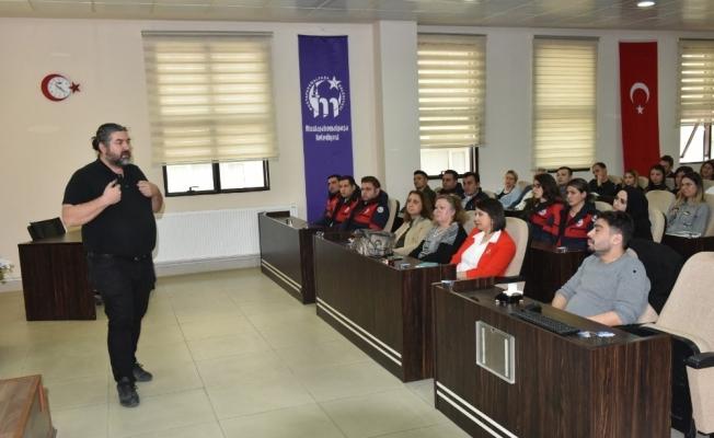 Belediye personeline ilk yardım eğitimi