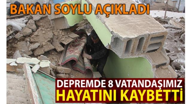 """İçişleri Bakanı Soylu: """"8 vatandaşımızı kaybettik"""""""
