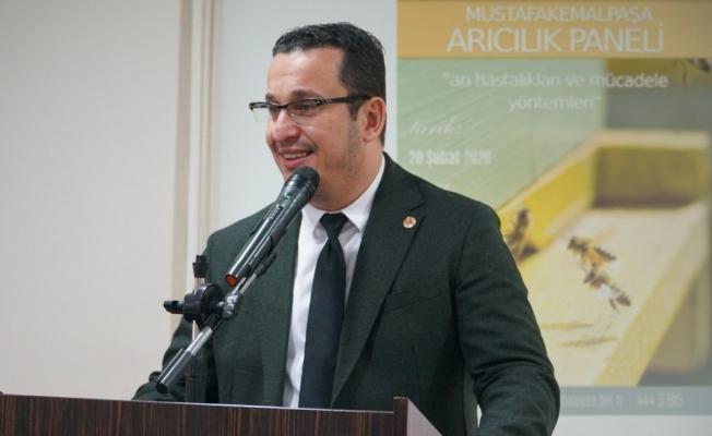 Mustafakemalpaşa'da arıcılık paneli yoğun ilgi gördü