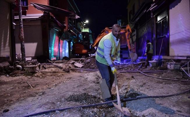 Osmangazi'de hizmet 24 saat devam ediyor