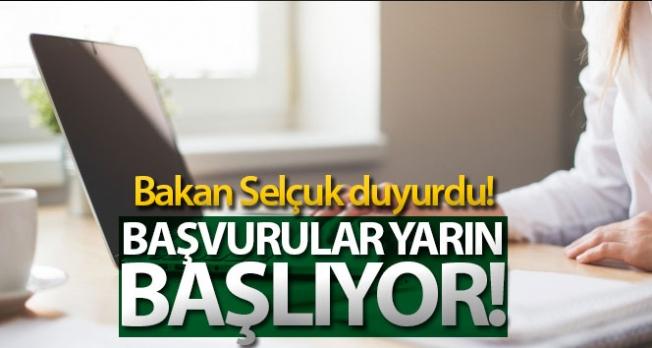 Bakan Selçuk: 'Kısa çalışma ödeneği başvuruları yarın başlıyor'