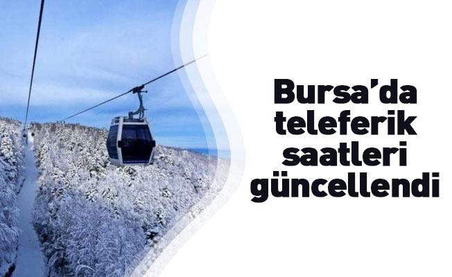 Bursa'da teleferik saatleri güncellendi