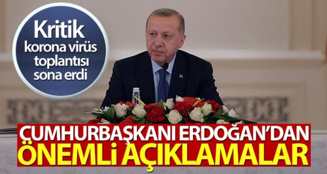 Cumhurbaşkanı Erdoğan'dan koronavirüsle ilgili açıklamalar