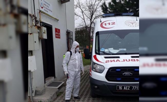 Gürsu'da sağlık kurumları dezenfekte ediliyor