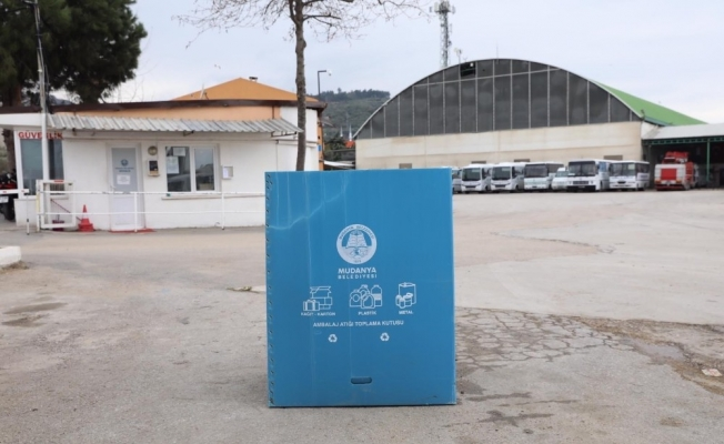 Mudanya'da atıklar geri dönüşüme gidiyor