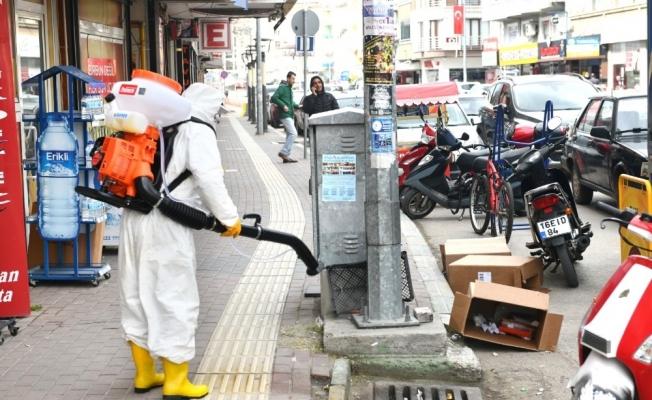 Mustafakemalpaşa'da dezenfeksiyon çalışmaları sürüyor