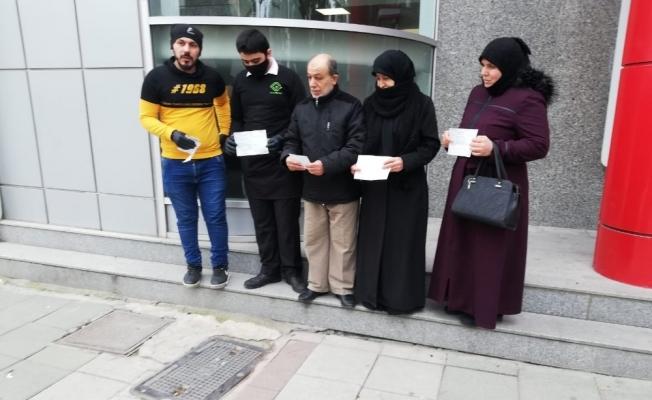 Suriyelilerden kampanyaya destek