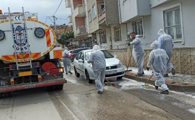 Gürsu'da caddeler dezenfekte ediliyor