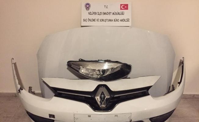 Bursa'da çalıntı araçlar parçalayarak satan zanlılar adliyeye sevk edildi