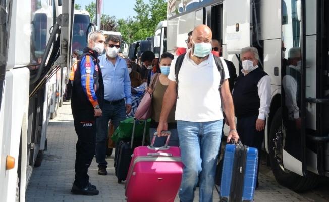 Bursa'da karantinası biten 437 vatandaş yurttan ayrıldı