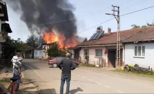 İnegöl'de 2 ev yanarak kül oldu