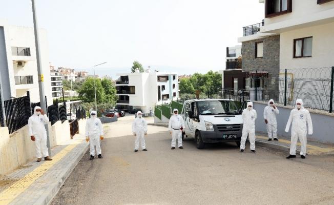 Mudanya'da 6 binden fazla apartman ve site dezenfekte edildi