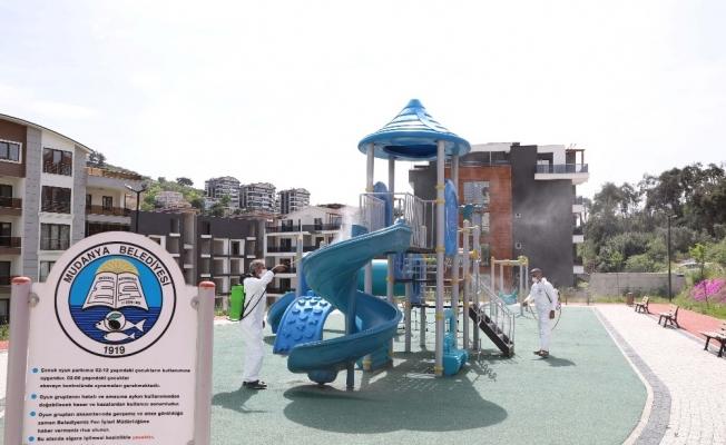 Mudanya'da parklar çocuklar için hazırlanıyor