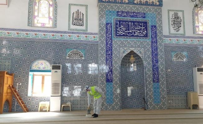 Yıldırım'da ibadethaneler dezenfekte ediliyor