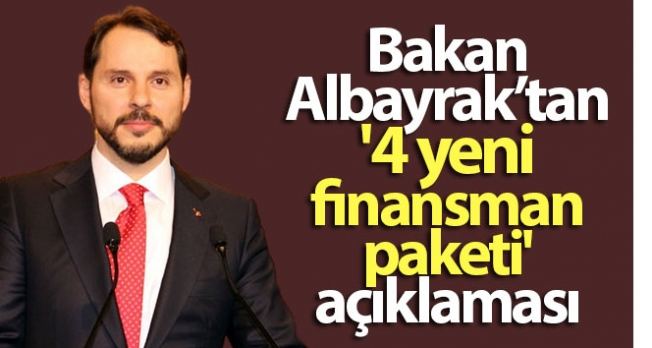 Hazine ve Maliye Bakanı Berat Albayrak'tan 4 yeni finansman kredi paketi açıklaması