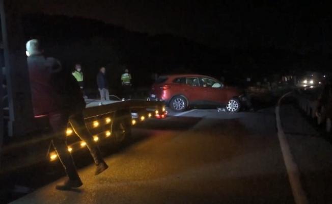 Tır devrildi, İstanbul-Bursa yolu trafiğe kapandı