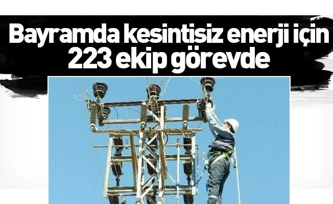 Bayramda kesintisiz enerji için 223 ekip görevde
