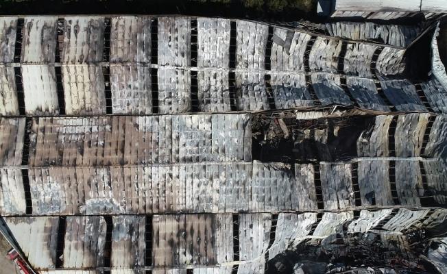 Bursa'daki yangın dehşetinden geriye kalan enkaz havadan görüntülendi