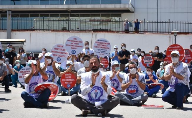 Döner sermaye sistemini protesto ettiler, oturma eylemi başlattılar