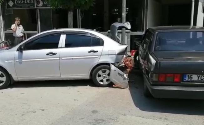 İnegöl'de korkutan kaza