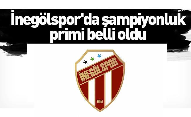 İnegölspor'da şampiyonluk primi belli oldu