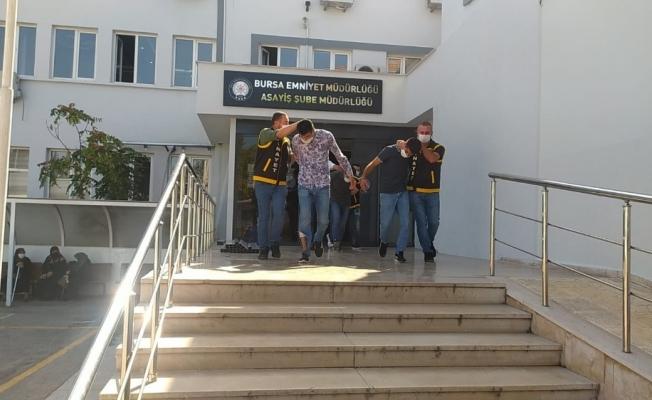 Bursa'da polise silah çeken suç makinesi tutuklandı