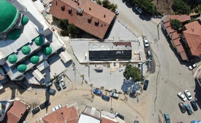 Büyükorhan meydan projesi tamamlandı