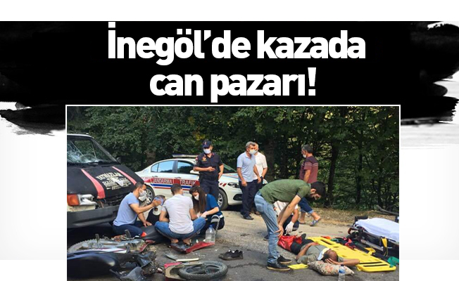 İnegöl'de kazada can pazarı!