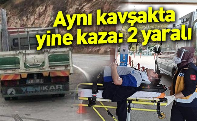 Aynı kavşakta yine kaza:2 yaralı