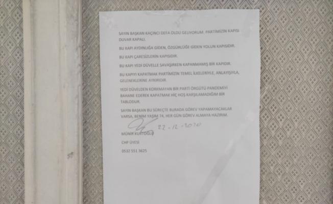 CHP'li üye kendi partisine tepkisini böyle gösterdi