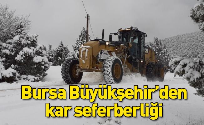 Bursa Büyükşehir'den kar seferberliği