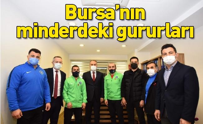 Bursa'nın minderdeki gururları