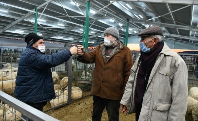 Hayvan pazarında üreticilerin yüzü gülüyor