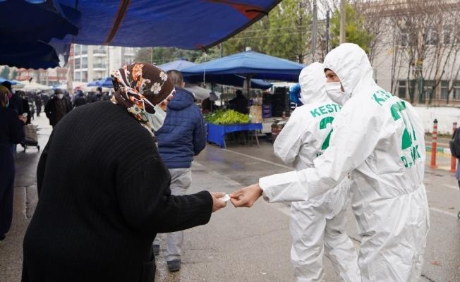 Kestel Belediyesi, vatandaşlara 20 bin sabun dağıttı